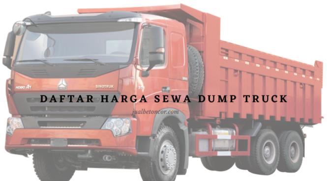 Harga Sewa Alat Berat Dump Truck